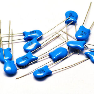 200pcs Ceramic Disc Capacitor 2000V 2KV 222 2200PF 2.2NF 0.0022uF High Voltage