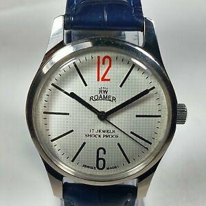 Vintage-Roamer-Mechanical-Hand-Winding-Movement-Mens-Wrist-Watch-AC103