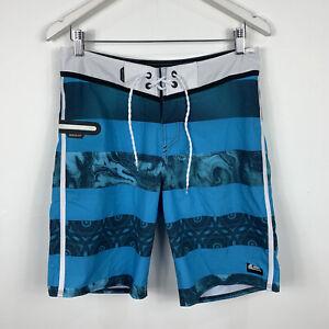 Quiksilver Mens Board Shorts Size 30 Swim Shorts Blue Good Condition