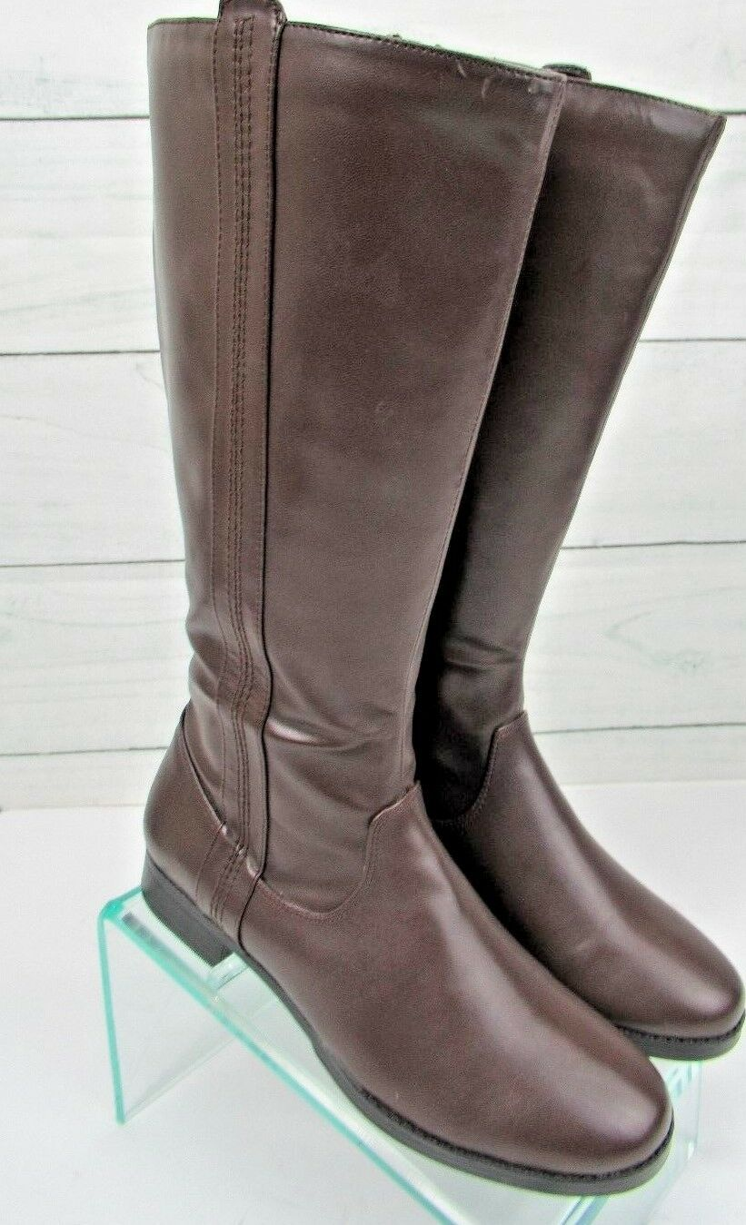 New ST JOHNS BAY Womans BROWN NINA  BOOTS Size 8 Med  100 - SS701