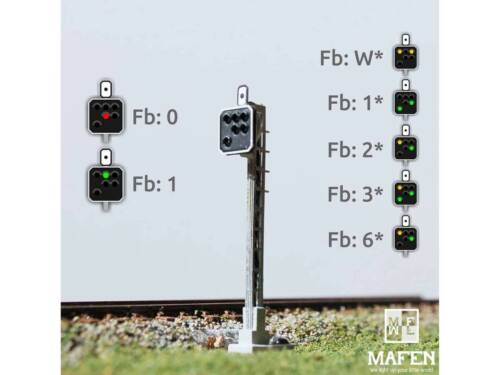 NEU Mafen 4136.13 SBB-Blocksignal de 6 Lichter gelb//grün//gelb//rot//grün//grün