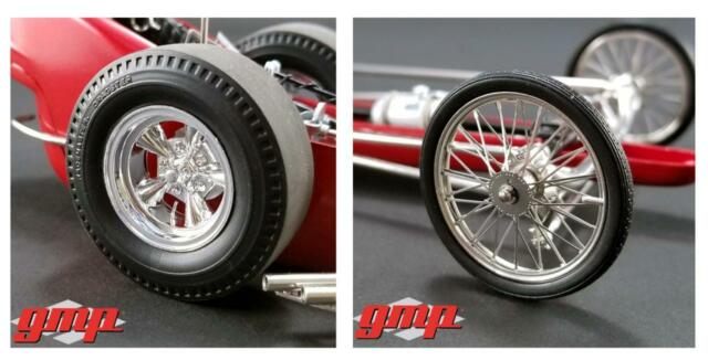 GMP 18892 Vintage Dragster Wheel & Tire Pack Of Four 1:18