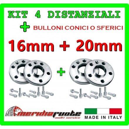 KIT 4 DISTANZIALI PER FIAT PANDA //4X4 169 2003-2012 PROMEX ITALY 16mm 20mm *