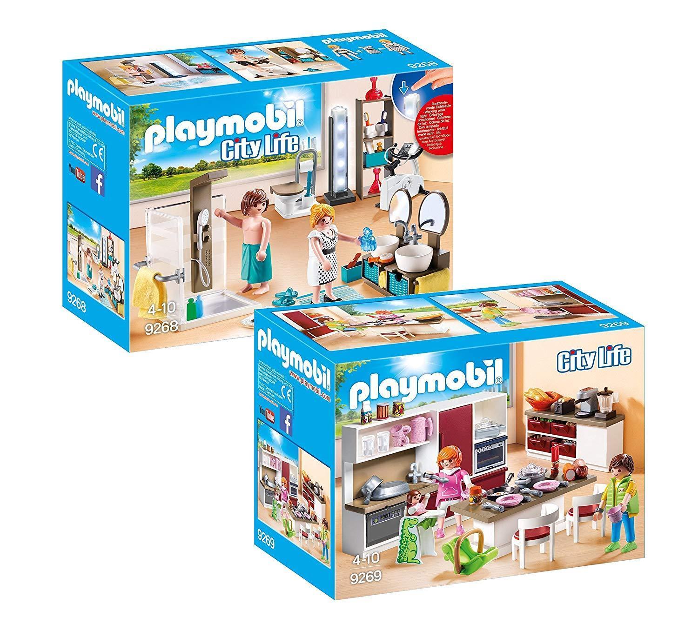 PLAYMOBIL ® moderno abitazione möbelset: 9268 Borsano & 9269 wohnküche, NUOVO