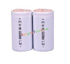 2pcs Sub C Sub C Ni-MH Rechargeable Battery 6000mAh 1.2V With Tab White