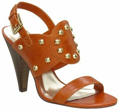 100 AUDREY BROOKE Gally Sandal Heels  Brown Cognac Size 6 NEW