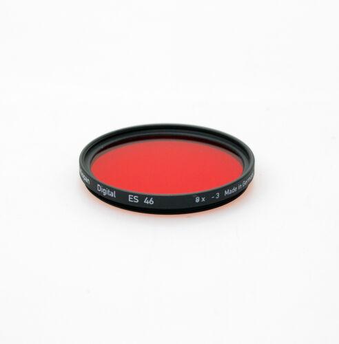 Heliopan 49 mm Rojo 25 Filtro nuevo Stock