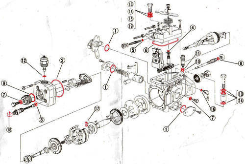 Pajero Shogun Pajero Delica CD 2.8 /& 2.5 TD y L200 Revisión total de bomba de combustible