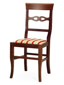Sedie In Legno Arte Povera.Sedia In Legno Imbottita Arte Povera Classica Ebay