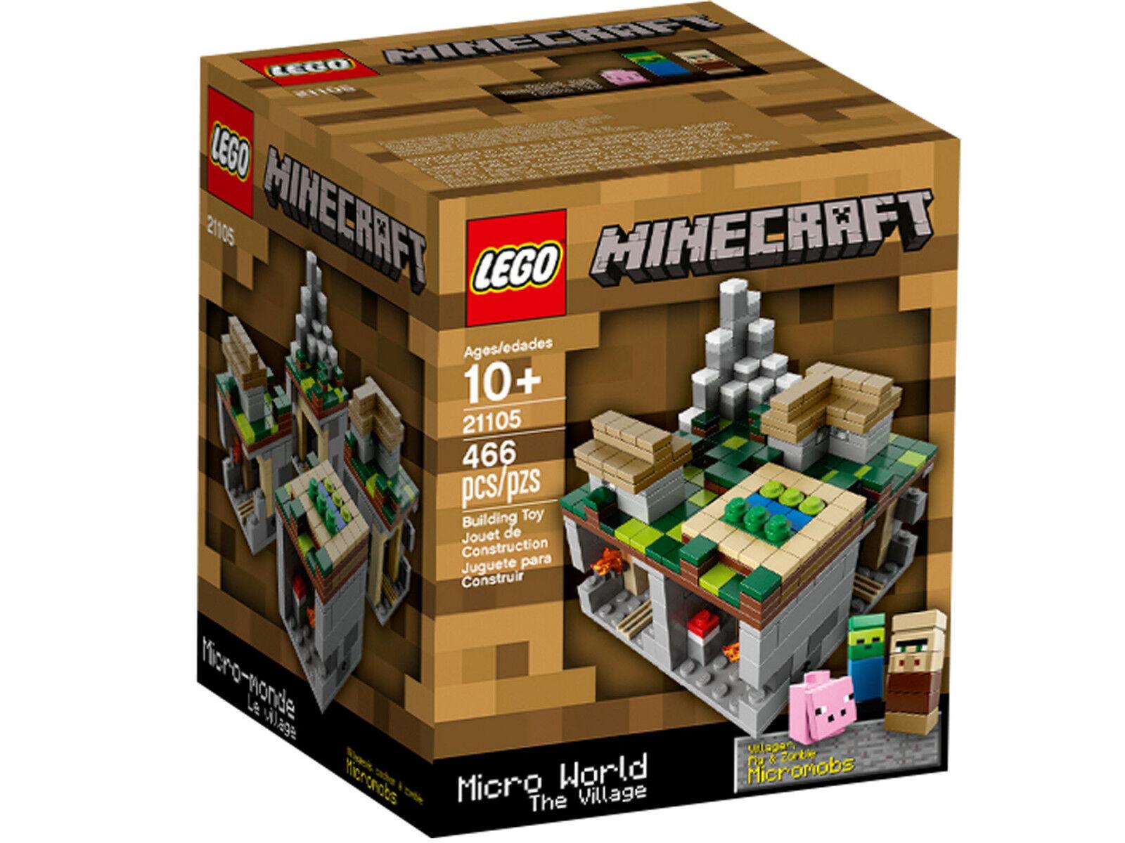 LEGO 21105 Minecraft Micro World - The Village - Ideas Cuusoo Dorf Steve Creeper