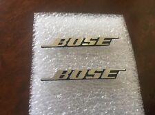 TWO Bose Aluminium Car Door Speaker Logos Emblems Badge Decals w/Pin USA Seller