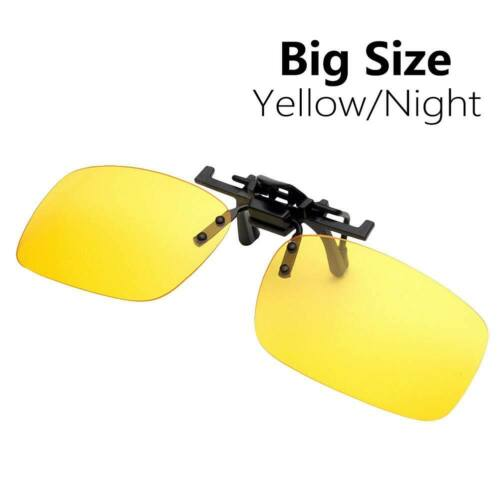 HD Polarised Anti-glare Clip On Sunglasses Night Driving Glasses Lens Extension