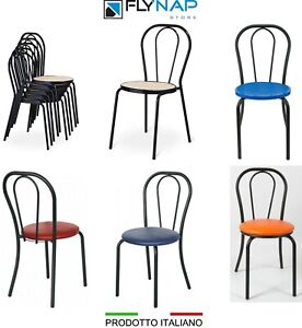 Sedie Thonet In Ferro.Dettagli Su Sedia Sedie Thonet Bar Casa Ristorante Bistrot Vienna Impilabile Colori Vari