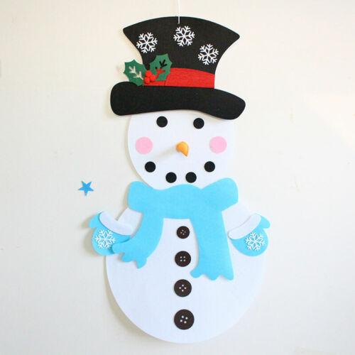 Wall Mount Felt Christmas Snowman Christmas Detachable Ornament Xmas Party Decor