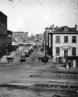 8x10 Civil War Photo: Union Wagon Train On Whitehall Street, Atlanta