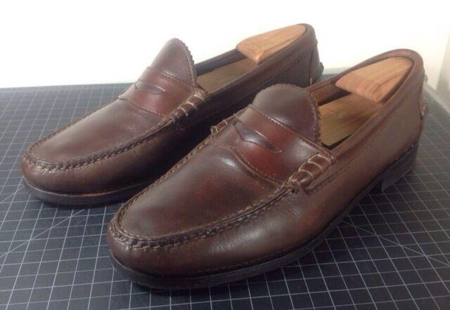 c44228ff1df Allen Edmonds KENWOOD Brown Leather USA Men s US 10.5 D Penny Loafer Dress  Shoes