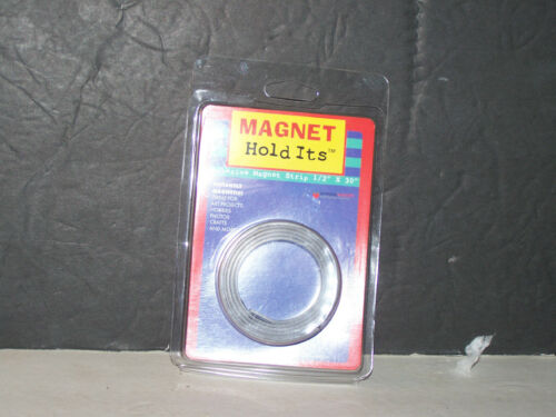 "MAGNET HOLD ITS ADHESIVE MAGNET STRIP 12"" X 30"" NIP"