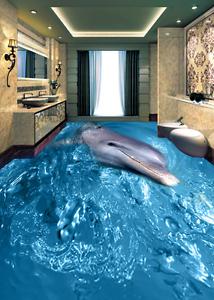 3D sonrisa Delfín Papel Pintado Mural Parojo Impresión de suelo 8422 5D AJ Wallpaper Reino Unido Limón