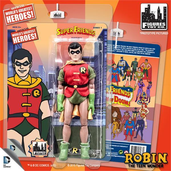 DC Super Friends CARTOON series Retro Styled ROBIN 8  inch ACTION Figure NEW