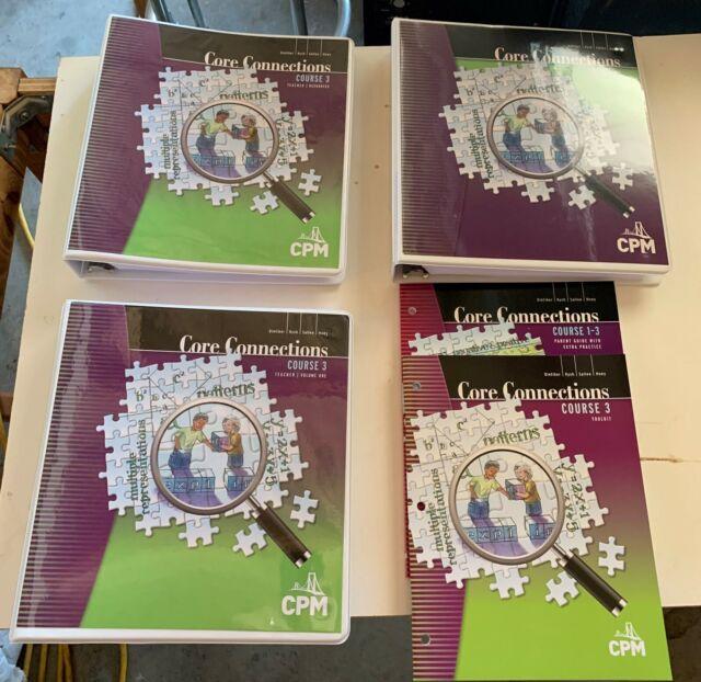 Core Connections Course 3 Version 5.0 Teachers Ed Vol 1, 2 ...