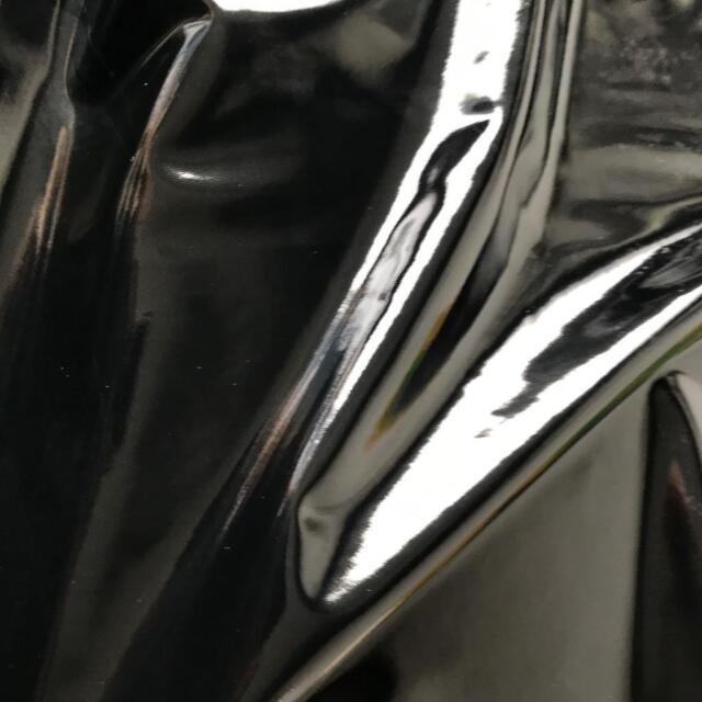 STUNNING BLACK Heavy Weight HIGH GLOSS PVC 4 way stretch 150cm