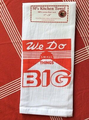 "NEW RETRO Vintage Style Cotton Flour Sack 50's Kitchen Towels - ""BIG"