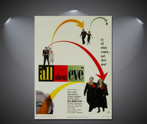 A3 All About Eve Vintage Movie Poster A2 A4 available A1