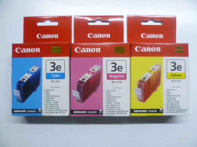 3 x Canon Bci-3 C M Y Set I550 I560 I6500 I850 I860 I865 I905d I950 I965 I990
