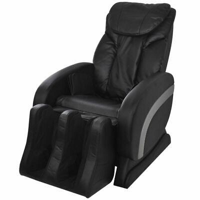 vidaXL Fauteuil de Massage Relaxation Electrique en Cuir Artificiel Noir | eBay