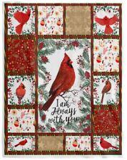 "Northern Cardinal I Am Always With You Lovers Blanket 30-80/"" Fleece Blanket"