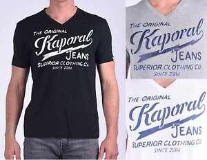 Détails sur T shirt Kaporal manches courtes homme BRUCE Noir , Blanc ou Gris