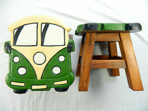 Image is loading Childs-Childrens-Wooden-Stool-Green-C&er-Van-Step- & Childs Childrens Wooden Stool - Green Camper Van Step Stool | eBay islam-shia.org