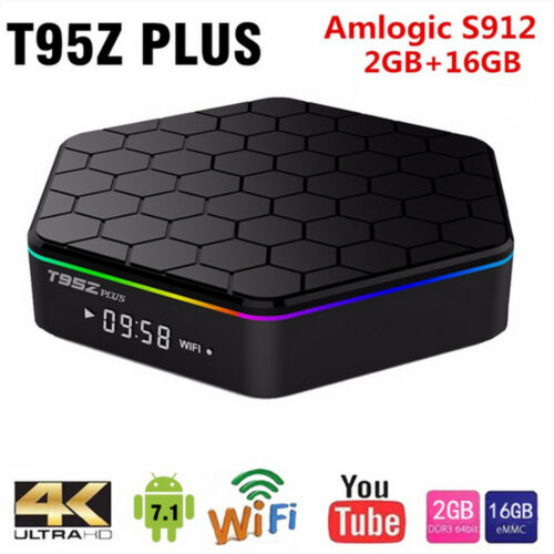 Hot T95Z Plus S912 Octa Core TV Box Android 7.1 4K Bluetooth 4.0 Dual Band WiF
