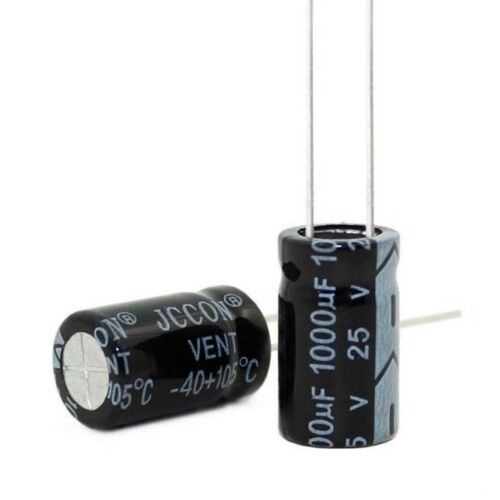 10V 16V to 100V Radial Aluminium Electrolytic Capacitors Range of 10uF 10000uF
