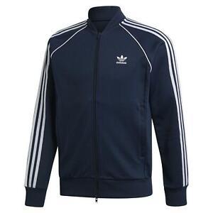 Adidas Originals Superstar Track Veste Bleu Marine Sport Trefoil rétro vintage