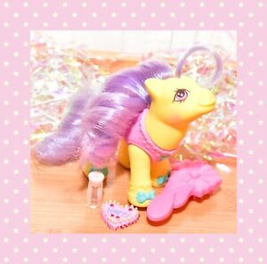 My-Little-Pony-MLP-G1-VTG-Baby-Toe-Dancer-Yellow-BALLERINA-Original-Brush