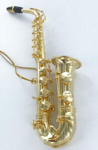 Realistic-Miniature-Saxophone-Christmas-Tree-Ornament-Metal-NEW-Music-Sax-Gift