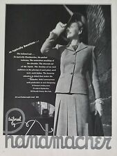 1943 Tailored By Handmacher American Suit Making Fashion Clothing Ad