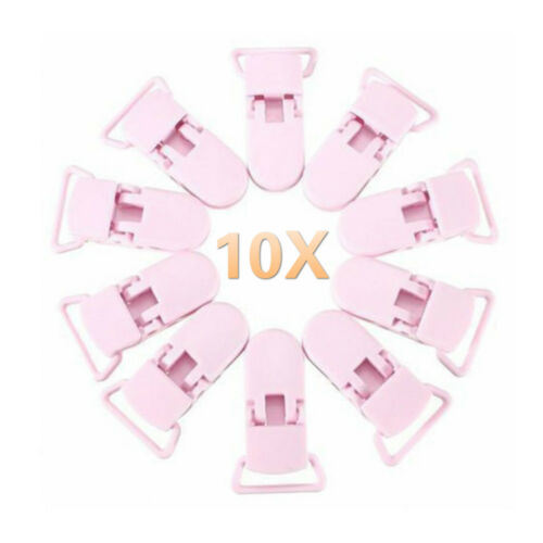 10Pcs Baby Kids T-shape Plastic Pacifier Clips Soother Dummy Badge Holder #H8