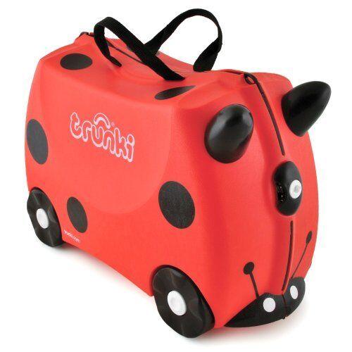 Trunki harley le design coccinelle enfants ride sur valise bagage-rouge