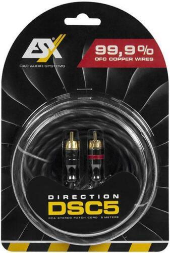 ESX DSC DIRECTION Cinchkabel 5 m Hochwertiges Cinch-Stereokabel Vollkupfer