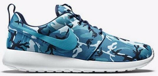 big sale 74bba 35d8d Nike Roshe Run Rosherun Print Camo 655206 441 Blue Navy GPX 9.5 for sale  online   eBay