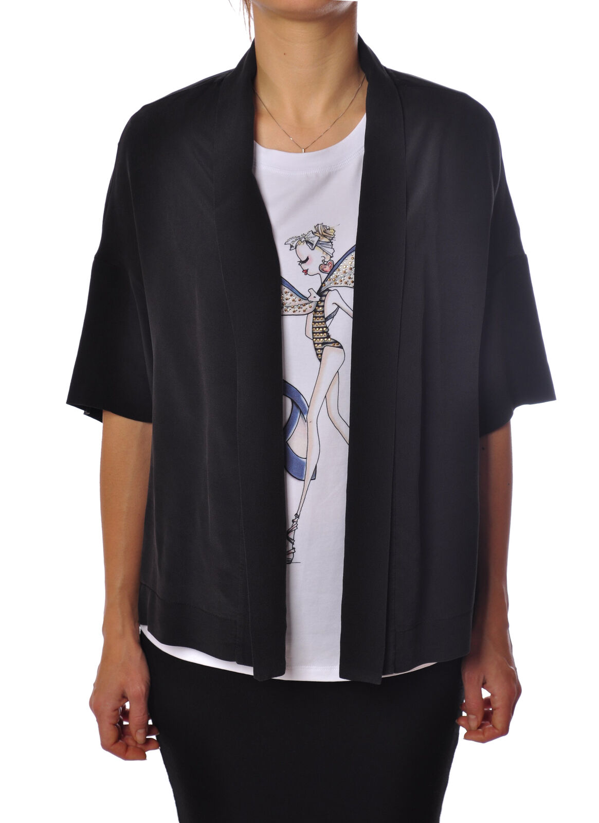Ottod'ame - Shirts-Blouses - Woman - schwarz - 2094631G182113