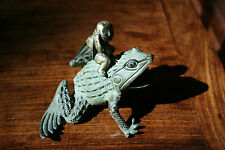 An Antique Chinese Bronze Figure of a Deity Riding a Frog, #20140227