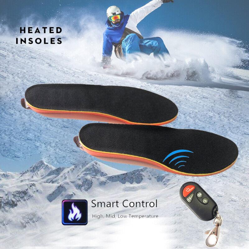 Elektrisch beheizte Schuhsohlen Sohle Fuß wärmer Füße wiederaufladbar