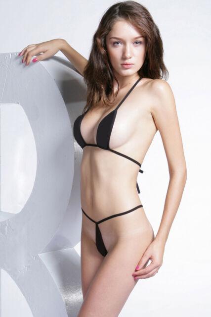 N3503 Sexy Black / Cow Print Mini Bra Top & Thong Velvet Set Enticing Underwear