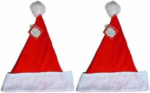 a82fe5e490397 Felt Large Holiday Christmas Red Santa Hat With Plush Cuff - Large ...