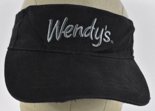 24 piece lot New Wendy/'s Dave Thomas Foundation Restaurant Black Visor hat Cap