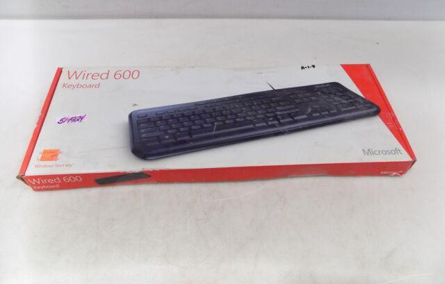 f143b70897a Microsoft Wired Slim USB Office Keyboard 600 Model 1366 Tested ...