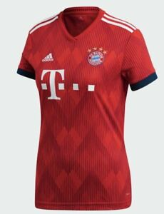 Details about adidas Womens FC Bayern Home Jersey Munich Soccer Top Red Short Sleeve M NWT New